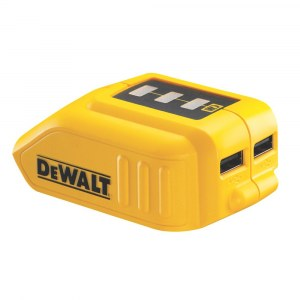 Batteriadapter DeWalt DCB090 10,8 - 18 V -> USB (x2);  For lading av telefonbatterier