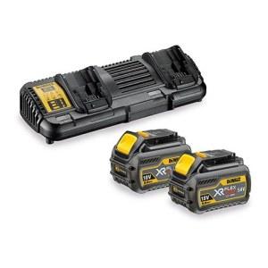 Tilbehørsett DeWalt FlexVolt; 18 V; 54 V; 2x6,0 Ah batteri + lader DCB132