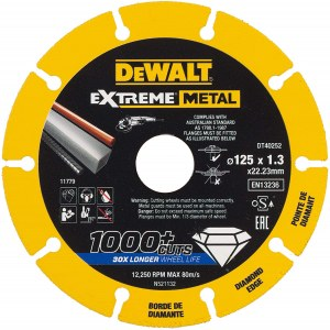 Diamantskive DeWalt DT40252-QZ; 125x22,23x1,3 mm