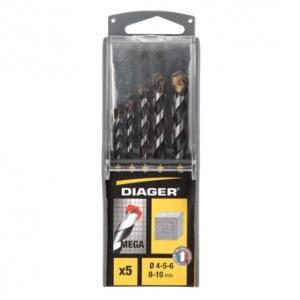 Betongborsett Diager; 4/5/6/8/10 mm; 5 stk