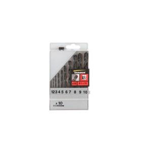 Metallborsett Diager 752C; 1-10 mm; 10 stk