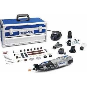 Batteridrevet flerfunksjonsverktøy Dremel 8220 5/65 Platinum + 65 tilbehøre