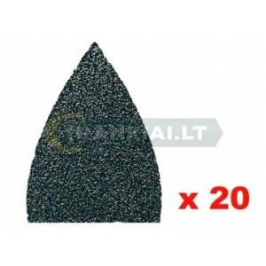 Sandpapir til deltaslipere Fein; P80; 20 stk