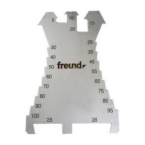 Merkeplate / kutter Freund; 5-100 mm