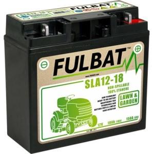 Batteri til plentraktorer Fulbat SLA12-18; 12 V; 18 Ah med gel egnet for Stiga, Alpina, Castlegarden