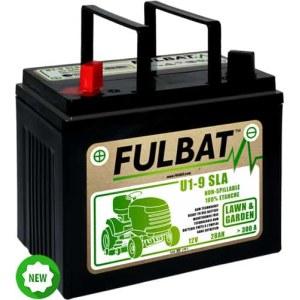 Batteri til plentraktorer Fulbat U1-9 SLA; 12 V; 28 Ah passer til Husqvarna, Partner, McCulloch