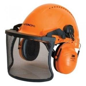 Vernehjelm Hitachi 713511 med beskyttelsesskjerm og hørselvern