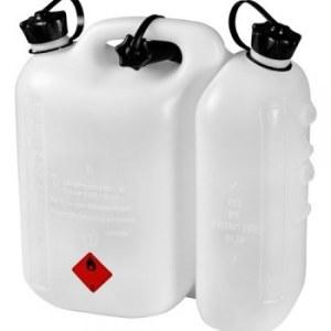 Drivstofftank Hitachi 714822 hvit (5l) + Hitachi smøreoljetank (3l)