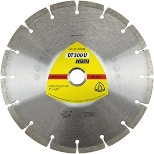 Diamantskive for tørrskjæring Klingspor DT 300 U Extra; 230x2,3x22,23 mm