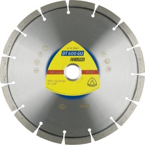 Diamantskive for tørrskjæring Klingspor DT 600 GU Supra; 230x2,6x22,23 mm