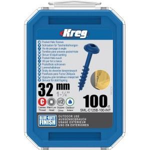 Treskru Kreg SML-C125B; Maxi-Loc; 1,25''; 32 mm; 100 stk. blå