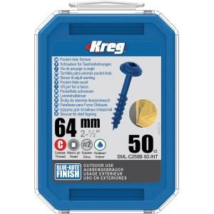 Treskru Kreg SML-C250B; Maxi-Loc; 2,50''; 64 mm; 50 stk. blå