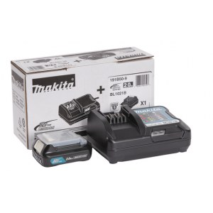 Tilbehørsett Makita; 12 V; 1x2,0 Ah batteri + lader DC10WD