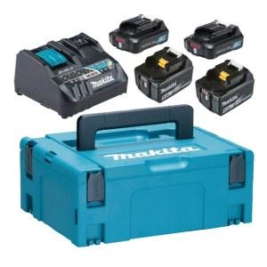 Tilbehørsett Makita PowerPack 12 V + 18 V; 2x5,0 Ah/2x2,0 Ah batteri + lader Makita DC18RE