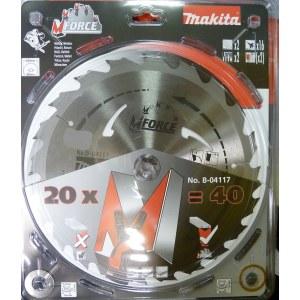 Sagblad for tre Makita M-FORCE; 235x2,3x30,0 mm; Z20; 15°