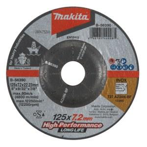Slipeskive Makita B-56390; 125x7,2 mm
