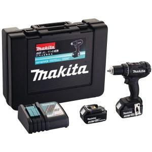 Skrutrekker/bor Makita DDF482RFEB; 18 V; 2x3,0 Ah batteri.; svart
