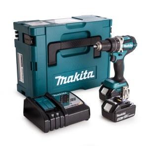 Slagskrutrekker / bor Makita DHP484RTJ; 18 V; 2x5,0 Ah batt.