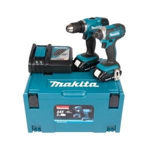 Verktøysett Makita DLX2141AJ (DDF453+DTD152); 18 V; 2x2,0 Ah batt.