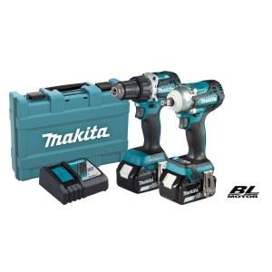 Verktøysett Makita DLX2410G (DDF484+DTW300); 18 V; 2x6,0 Ah batt.
