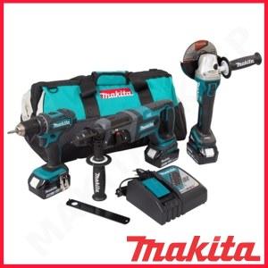 Verktøysett Makita DLX3078TX1 (DGA504 + DHR241 + DDF482); 18 V; 3x5,0 Ah batt.