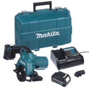 Batteridrevet sirkelsag Makita HS301DSAE; 10,8 V; 2x2,0 Ah batt.