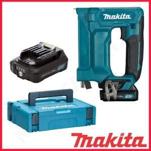 Stiftepistol Makita ST113DWAJ; 10,8 V; 2x2,0 Ah batt.