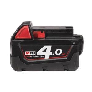 Batteri Milwaukee M18 B4; 18 V; 4,0 Ah; Li-Ion