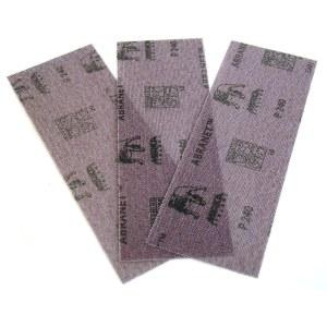 Nettmønstret slipepapir Mirka Abranet AE175F1012; 80x230 mm; P120; 10 stk