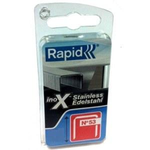 Klammer Rapid; 11,4x12 mm; 1080 stk; type 53; rustfritt stål