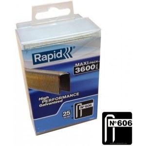 Klammer Rapid; 6x25 mm; 3600 stk; type 606