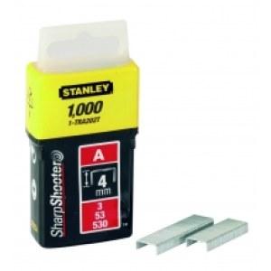 Klammer Stanley; 11,3x4 mm; 1000 stk; type A; rustfritt stål