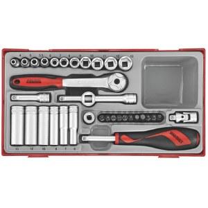 Hylsenøkkelsett Teng Tools TT1435; 35 stk
