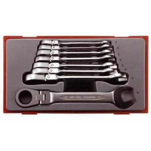 Skralle fastnøkkelsett Teng Tools TT6508RF; 8 stk