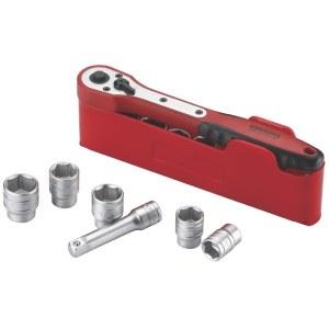 Hylsenøkkelsett Teng Tools M3812N1; 12 stk