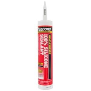 Tetningsmiddel for innendørs og utendørs arbeid Titebond Silicone; 300 ml; gjennomsiktig