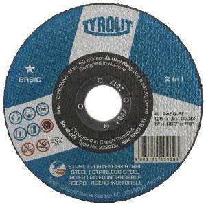Abrasiv kappeskive Tyrolit; 125x1,0 mm for metall