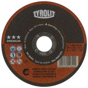 Abrasiv kappeskive Tyrolit; Ø125x1,6 mm; 1 stk