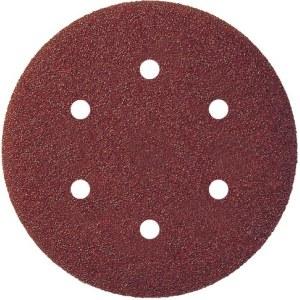 Sandpapir for eksenterslipere Virutex; 150 mm; P80; 8 stk
