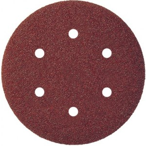 Sandpapir for eksenterslipere Virutex; 150 mm; P120; 8 stk