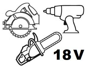 18 V verktøy uten batterier